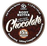 "SolBianca Body Butter - Твердое масло-автозагар для тела ""Шоколад"""