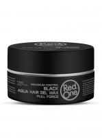 RedOne аква гель-воск для волос ультрасильной фиксации Aqua Hair Gel Wax BLACK
