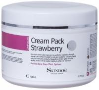 Skindom крем-маска с экстрактом клубники для лица, шеи и зоны декольте Cream Pack Strawberry