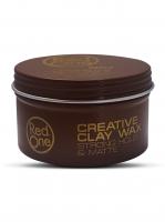 RedOne матовая глина-воск для волос сильной фиксации Creative Clay Wax STRONG HOLD & MATTE
