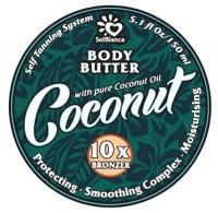 "SolBianca Body Butter - Твердое масло-автозагар для тела ""Кокос"""