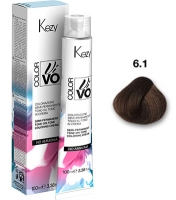 Kezy Color Vivo No Ammonia - 6.1  Темный блондин пепельный, 100 мл
