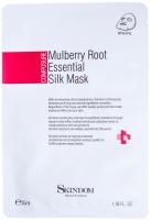 Skindom шелковая маска с экстрактом шелковицы Mulberry root Essential Silk Mask