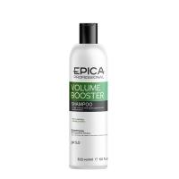 Epica Professional шампунь для придания объёма волос с растительными пептидами и протеинами зерновых культур Volume booster