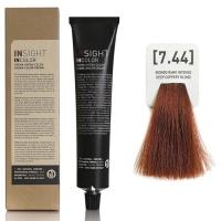 Insight InColor - 7.44 Перманентный краситель медный интенсивный блондин, 100 мл