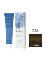 Cutrin Aurora Demi - Безаммиачный краситель 7.36 Золотой песок