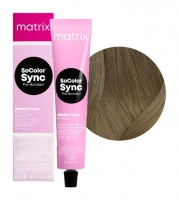 Matrix SoColor Sync Pre-Bonded - 7NA блондин натуральный  пепельный, 90 мл