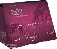 """Estel Professional Enigma - Краска для бровей и ресниц """"Иссине-черный"""""""