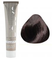 Estel Professional De Luxe Silver - 4/75 шатен коричнево-красный