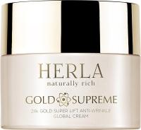 Herla лифтинг-крем для лица против морщин Золото Gold Supreme 24k gold super lift anti-wrinkle global cream