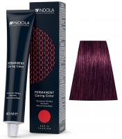 Indola Professional Profession Permanent Caring Care Red&Fashion - 6.77 темно-русый фиолетовый экстра