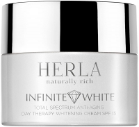 Herla отбеливающий дневной крем против морщин SPF 15 Infinite White total spectrum anti-aging day therapy whitening cream SPF 15