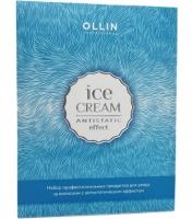 Ollin Professional Ice Cream - Набор для зимнего ухода за волосами (шампунь+кондиционер+спрей-кондиционер)
