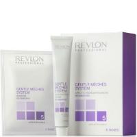 Revlon Отбеливающая система Gentle Meches System 1 набор -Порошок 6*50g + Крем 3*60ml