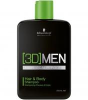 Schwarzkopf Professional [3D]Men Hair&Body Shampoo - Шампунь для волос и тела