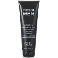 OLLIN Premier for men Шампунь для волос и тела освежающий