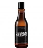 Redken Brews 3-в-1 Шампунь, кондиционер и гель для душа.